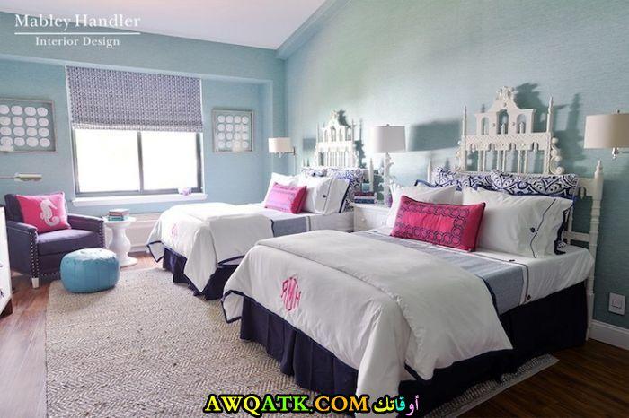 غرف نوم بنات في سن المراهقة ثنائية