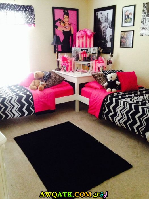 غرفة نوم بنات شيك جداً