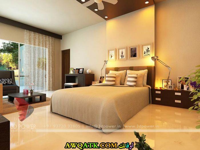 غرفة نوم روعة وجميلة باللون البيج