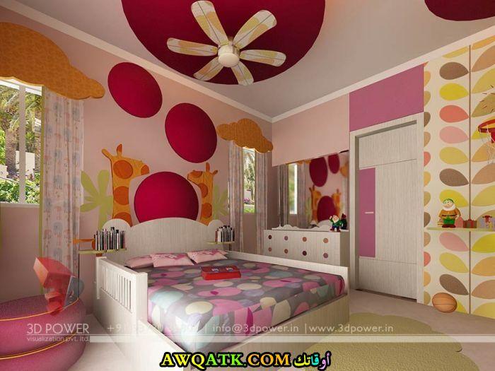 غرفة نوم باللون البينك شيك