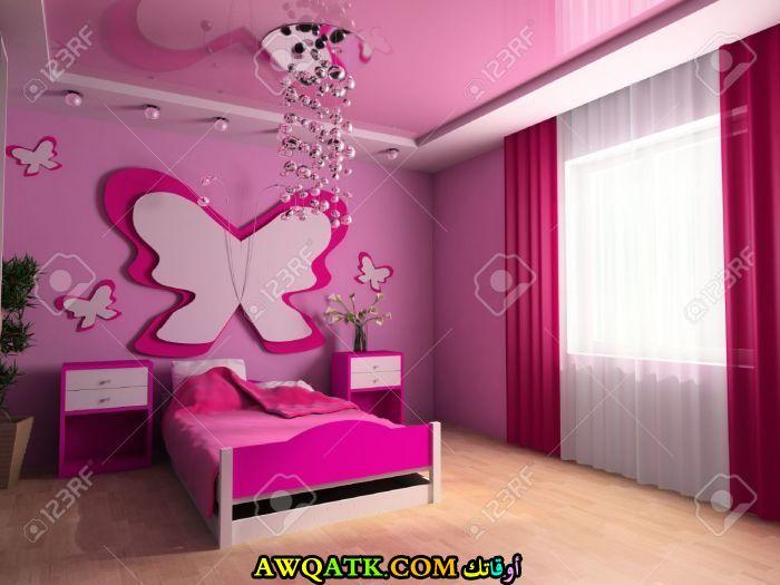 غرفة نوم شيك اللون البينك