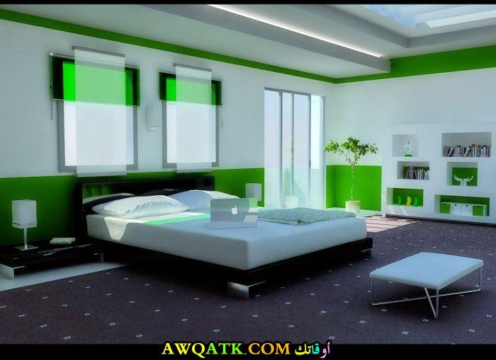 غرفة نوم روعة باللون الأخضر