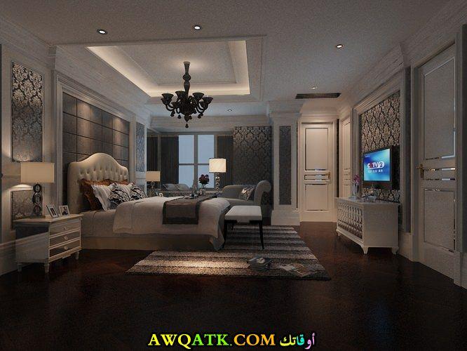 غرفة نوم باللون الرمادي رائعة