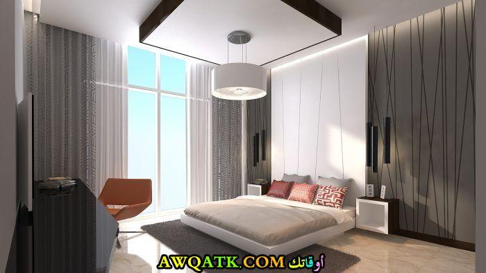غرفة نوم رمادية شيك