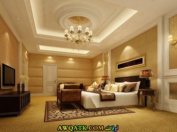 غرفة نوم ثلاثية الأيعاد جميلة جداً