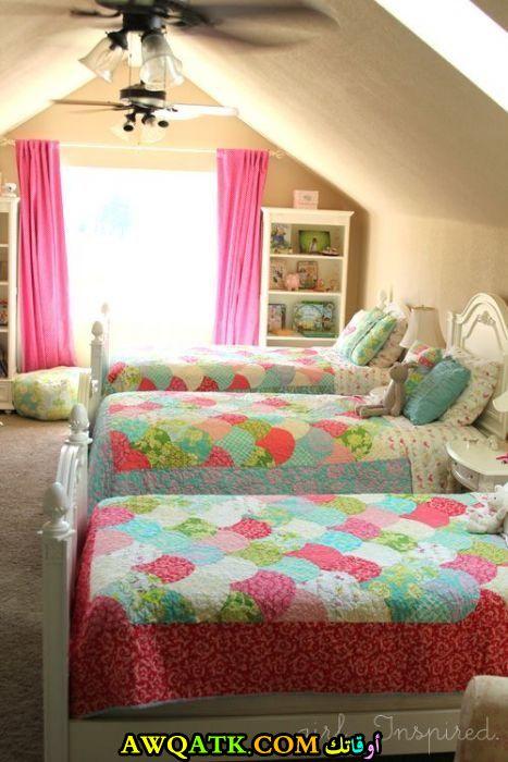 غرفة نوم ثلاثية للبنات جميلة جداً