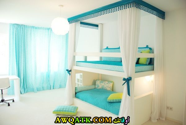 غرفة نوم بطابقين في منتهي الجمال والشياكة