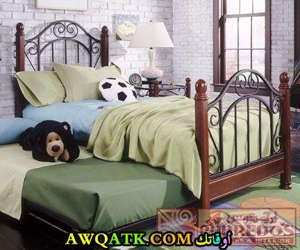 غرفة نوم باللون البني روعة وجميلة