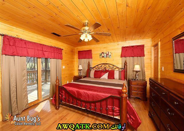 غرفة نوم حمراء روعة 2017