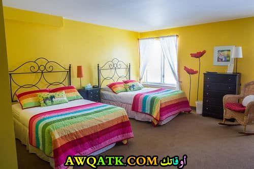 غرفة نوم صفراء مزدوجة