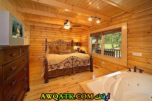 غرفة نوم كاملة باللون البني