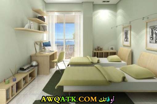 غرفة نوم خضراء في منتهي الجمال