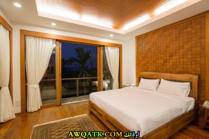 غرفة نوم باللون البيج روعة