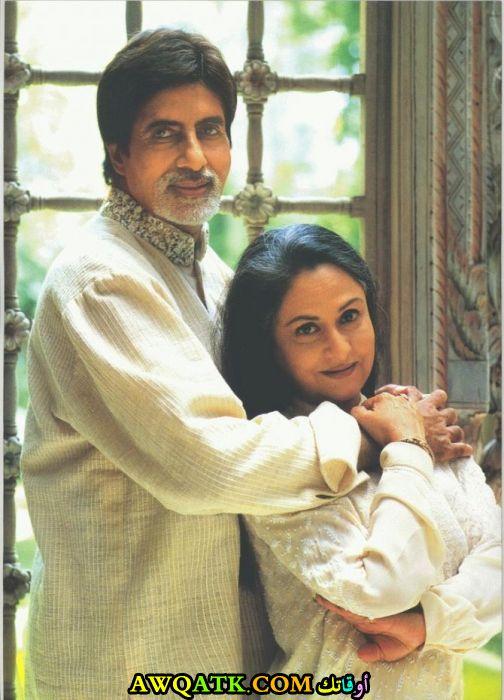 صورة الفنانة الهندية جايا بهادوري باتشان وزوجها