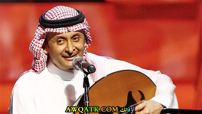 أحدث صورة للفنان السعودي عبد المجيد عبد الله