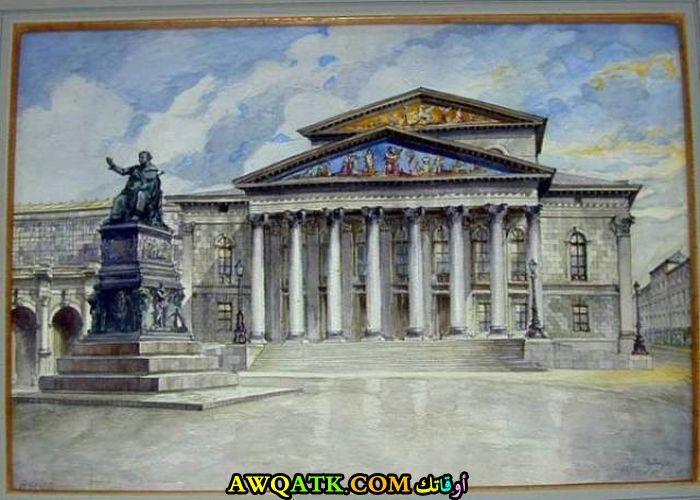 قصر وتمثال