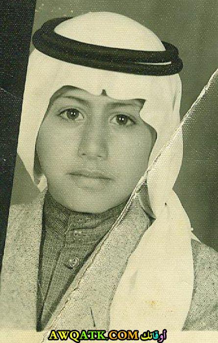 صورة الفنان ناصر القصبي وهو صغير