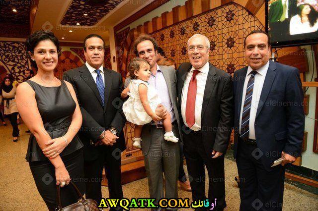 أجمل صورة للفنانة بسمة أحمد مع زوجها و أبنتها