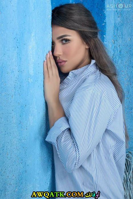 لعشاق الفنانة سارة سلامة صورة جميلة وجديدة