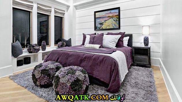 غرفة نوم أسود في نفسجي شيك جداً