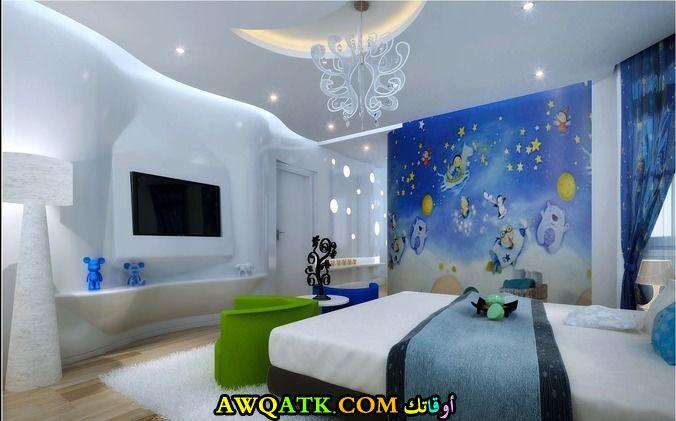 غرفة نوم ثلاثية الأيعاد رائعة