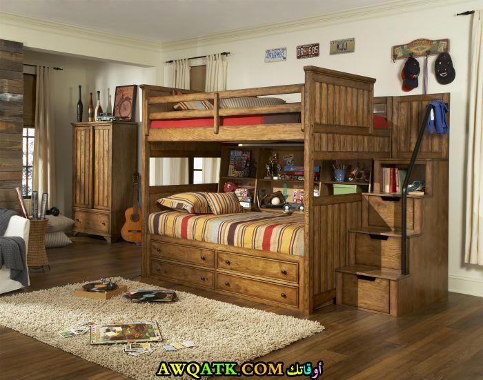 غرفة نوم أطفال خشب روعة