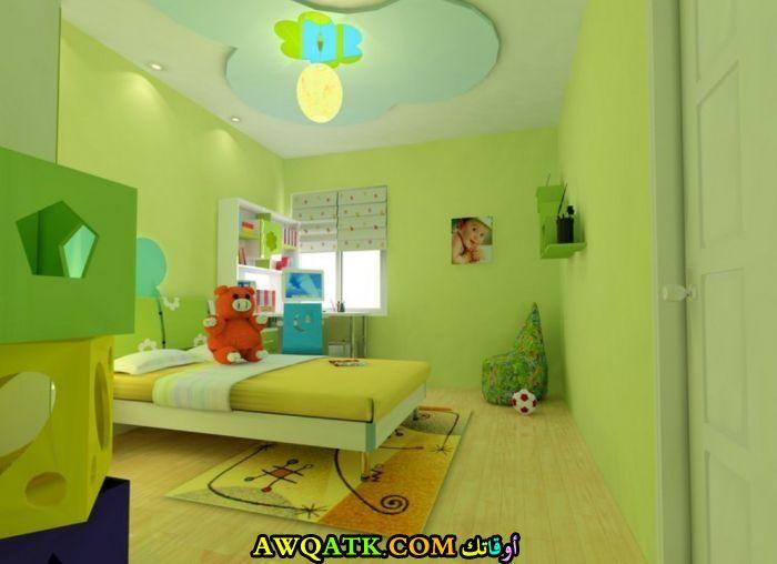 غرفة نوم خضراء للأطفال في منتهي الشياكة
