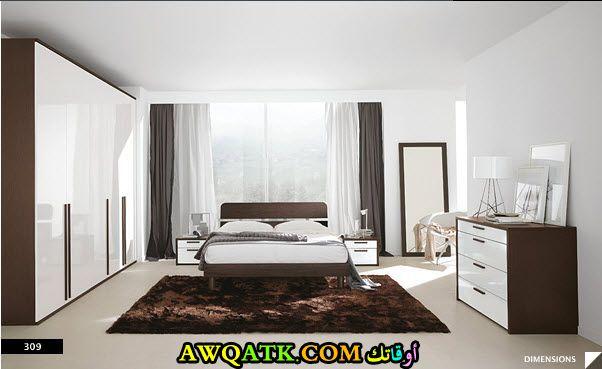غرف نوم أبيض في بني