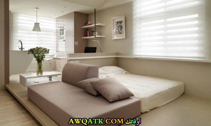 غرفة نوم بدون سرير رائعة