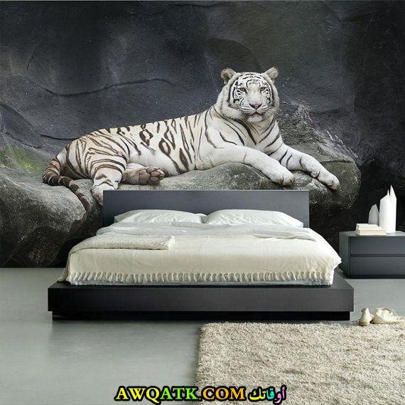 غرفة نوم تايجر باللون الرمادي