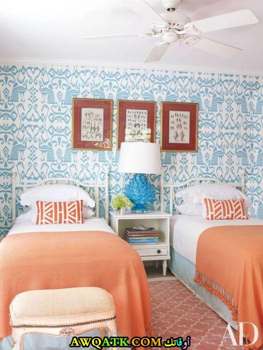 غرفة نوم تركي بسريرين روعة