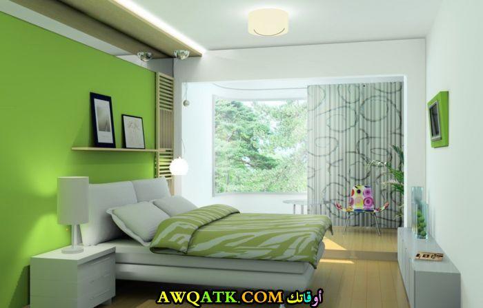 غرف نوم باللون التفاحي