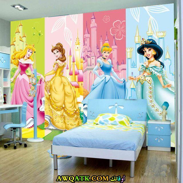 غرفة نوم ثلاثية الأبعاد للبنات