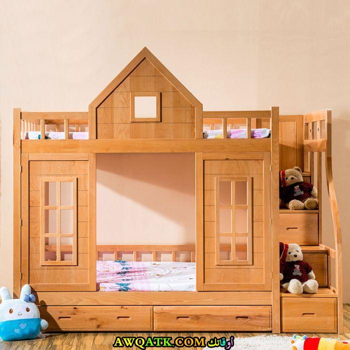 غرفة نوم أطفال خشب رائعة