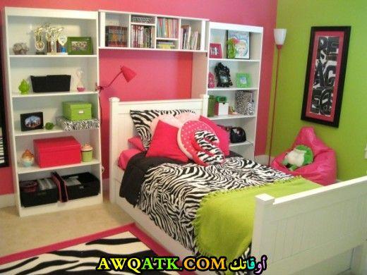 غرفة نوم للبنات شيكَ وروعة ياللةن الأخضر
