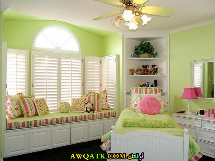 Decorating Bedrooms With Green Toile: غرف نوم خضراء للبنات