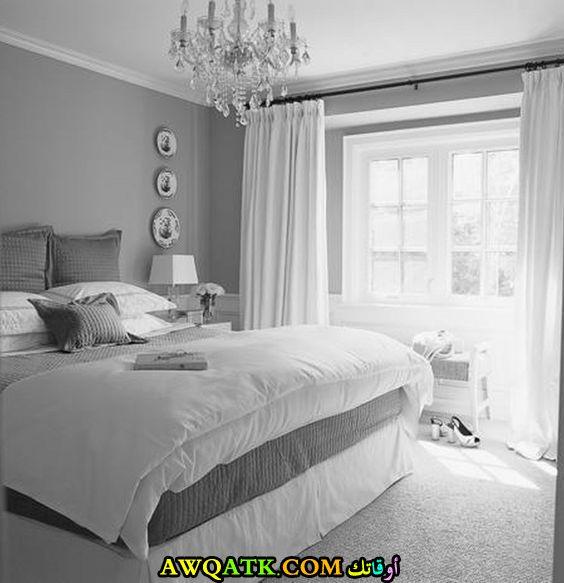 غرف نوم باللون الرصاصي والفوشيا