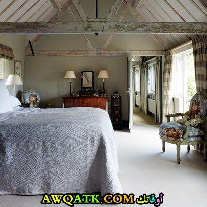 غرفة نوم بسيطة بستايل ريفي