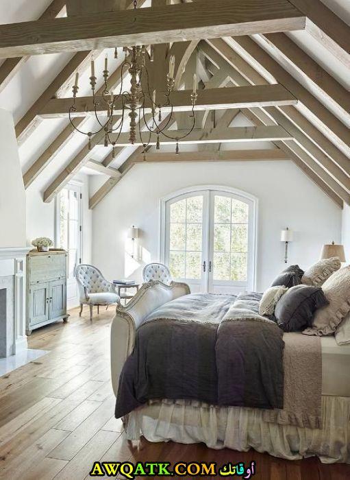 غرفة نوم بستايل ريفي رائعة