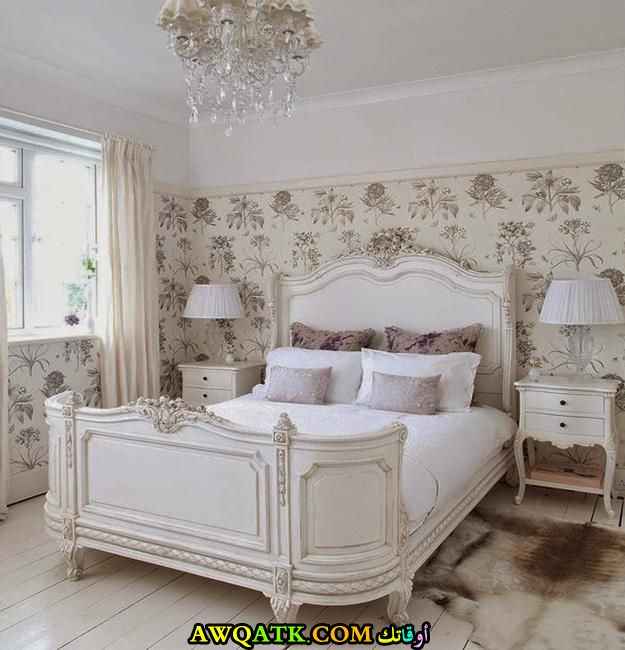 غرفة نوم بستايل فرنسي شيك جداً