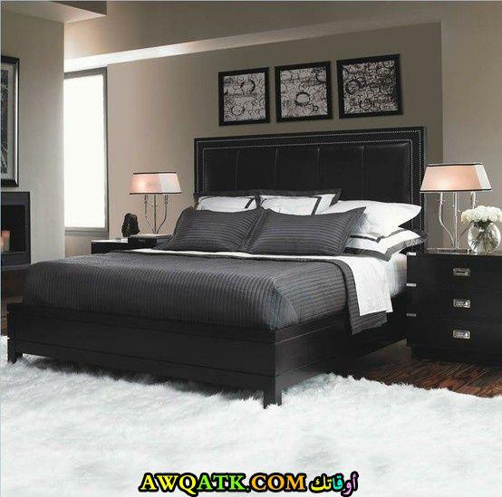 غرفة نوم شيك جداً باللون الأسود