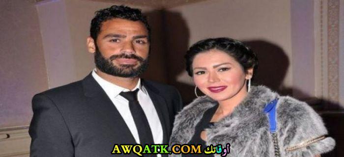 صورة عائلية للفنانة لقاء الخميسي مع زوجها