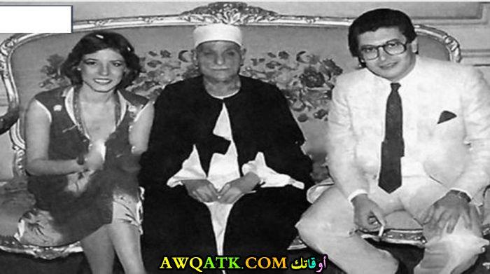 صورة الفنانة المصرية مها أبو عوف وزوجها