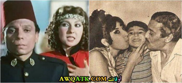 أجمل صورة للفنانة نادية الجندي مع الفنان عماد حمدي و ابنها هشام