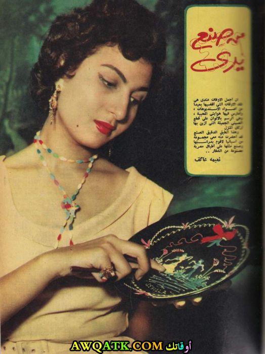 صورة قديمة ورائعة للنجمة المصرية نعيمة عاكف