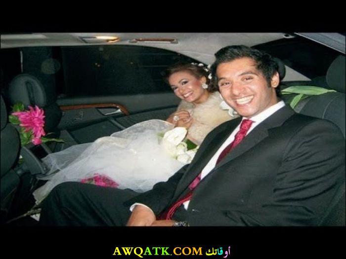 صورة الفنانة المصرية هند صبري وزوجها