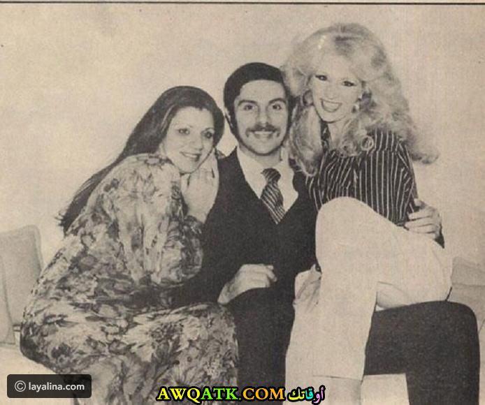 صورة عائلية للفنانة هويدا مع والدها و والدتها