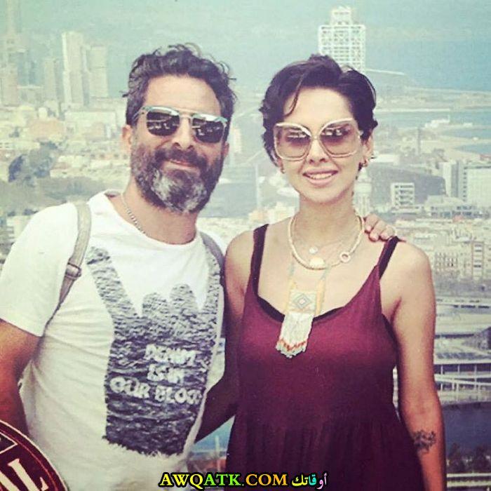 صورة الفنانة المصرية ياسمين رئيس وزوجها