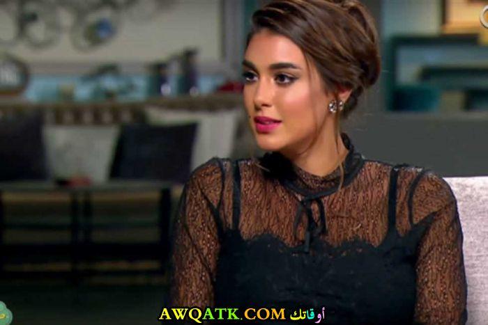 أحدث صورة للفنانة المصرية ياسمين صبري باللون الأسود الجميل