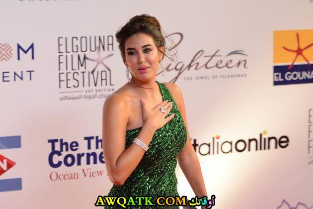 صورة جديدة للنجمة المصرية ياسمين صبري من أخر مهرجان سينمائي